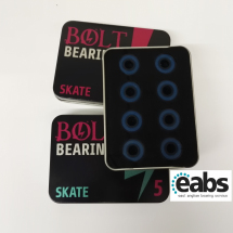 608-RS ABEC-5 Tin of 8 bearings skateboard/rollerskate/scooter